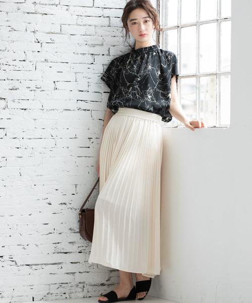 [ViS] ジョーゼットプリーツロングスカート