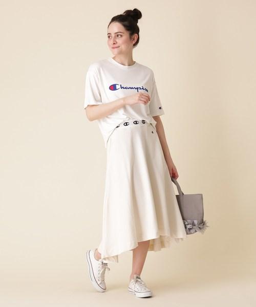 [Couture brooch] 【WEB限定販売】Champion(チャンピオン) フロントデザインTシャツ