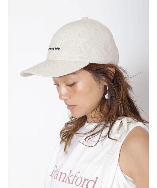 11[Ungrid] リネン混CAP