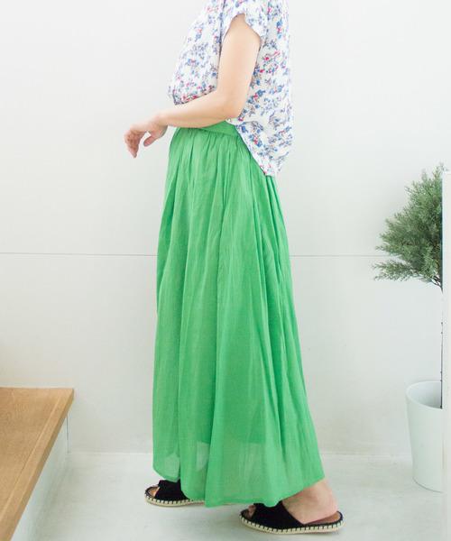[ALL ORDINARIES] スシボイルギャザーマキシスカート
