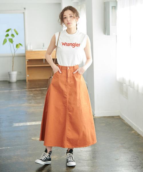[ROPE' PICNIC] 【WRANGLER×ROPE' PICNIC】ロゴノースリーブTシャツ
