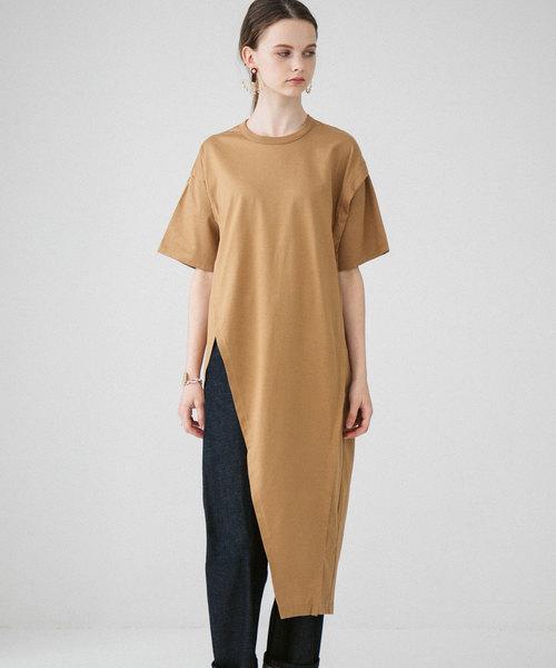 [PUBLIC TOKYO] アシメデザインカットTシャツ