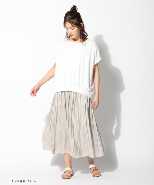 [Honeys] ギャザーロングスカート