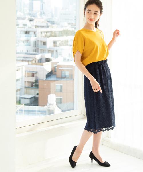 [ViS] 【WEB限定】レースタイトスカート