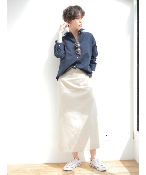 [koe] 麻混タイトスカート 〇