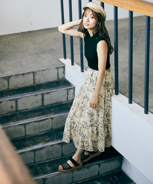 [mysty woman] 【WEB限定アイテム】ニットノースリドッキングワンピース 839593