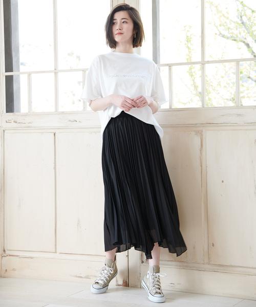 [ROPE' PICNIC] イレヘムプリーツスカート