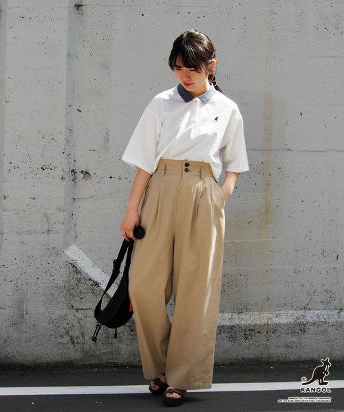 [NICOLE] 【WEB別注】KANGOLコラボ配色リブポロシャツ