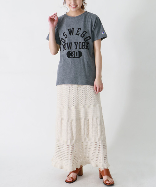[HER CLOSET] 【Champion】プリントロゴTシャツ
