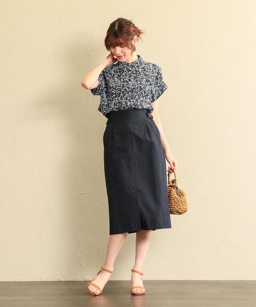 [MACKINTOSH PHILOSOPHY] 【ウォッシャブル】コットンナイロンダンプスカート