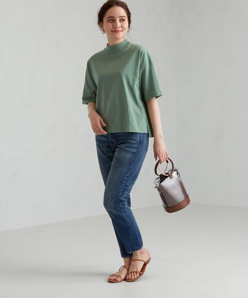[green label relaxing] FFC ハイネック Tシャツ