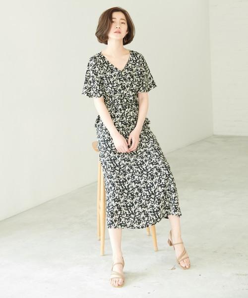 [ROPE' PICNIC] 【WEB限定】【セットアップ対応】小花柄マーメイドスカート