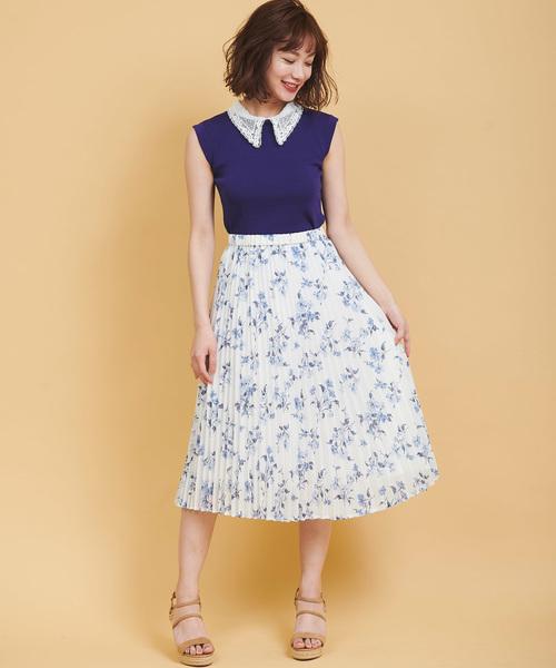 大人かわいいコーデ スカート2