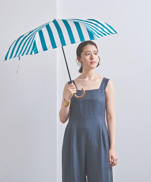 [UNITED ARROWS] <Pradelle(プラデル)>ワイドボーダー 晴雨兼用 折りたたみ傘