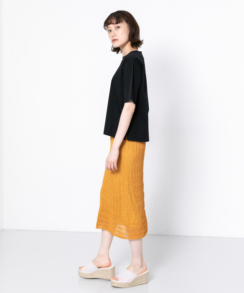 [SENSE OF PLACE by URBAN RESEARCH] クルーネックTシャツ(5分袖)