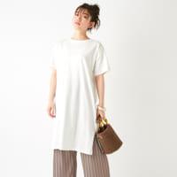 シンプルなのにおしゃれが叶う♡「Tシャツワンピ」の夏コーデ特集!