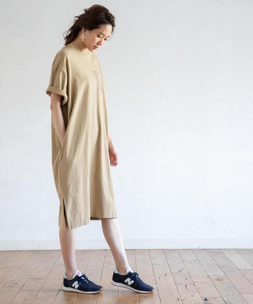 [coen] 【【『リンネル』8月号掲載・WEB限定カラー⇒ネイビー】SMITH別注Tシャツワンピース