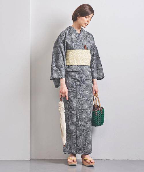 [UNITED ARROWS] <竺仙(ちくせん)> 万寿菊 つむぎ浴衣