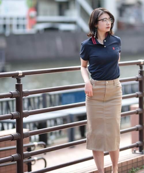 [GIORDANO] [GIORDANO]スモールライオン刺繍ポロシャツ