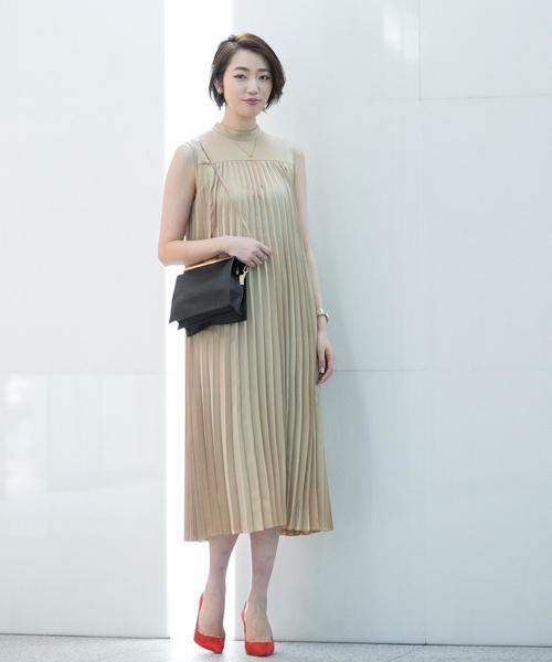 [BEAUTY&YOUTH UNITED ARROWS] BY DRESS スタンドカラープリーツドレス