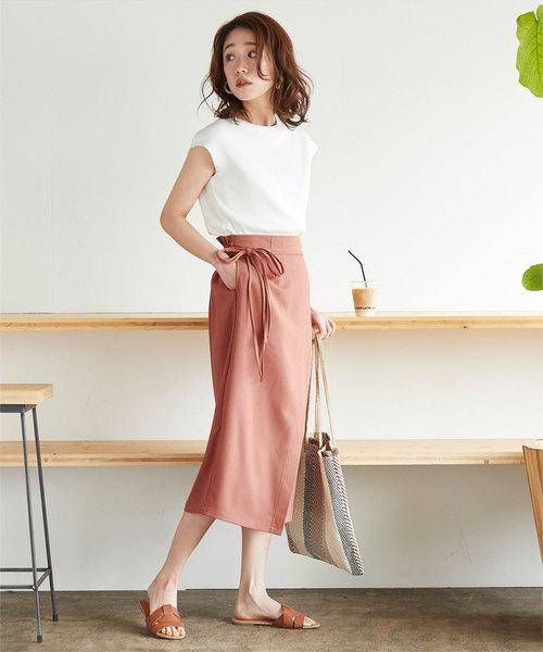 [titivate] フェイクラップリボンスカート