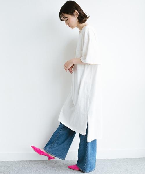[haco!] 【L・LLサイズあり】1枚で着ても重ね着もかわいいビッグTシャツワンピース