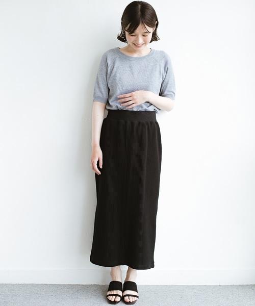 [haco!] 気軽にはいてもオンナっぽさを忘れない変わりワッフルタイトスカート by MAKORI