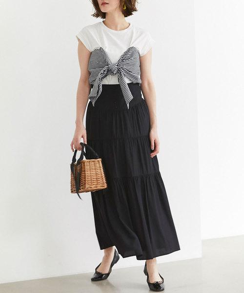 [tocco closet] ティアードロングスカート