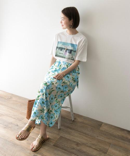 1[URBAN RESEARCH] アイランドフラワープリントスカート