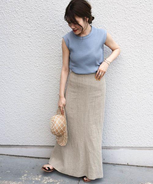 [SHIPS for women] Prefer SHIPS:リネンマーメイドスカート