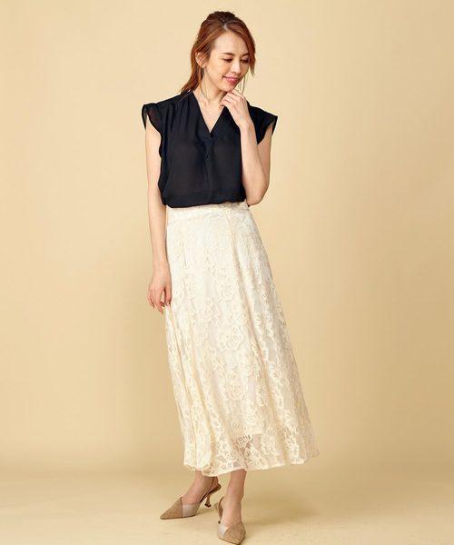 [Roomy's] 【WEB限定】フレアスリーブスキッパーシャツ