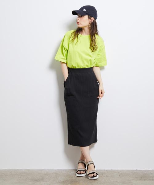 [ROPE' PICNIC] リブカットタイトスカート