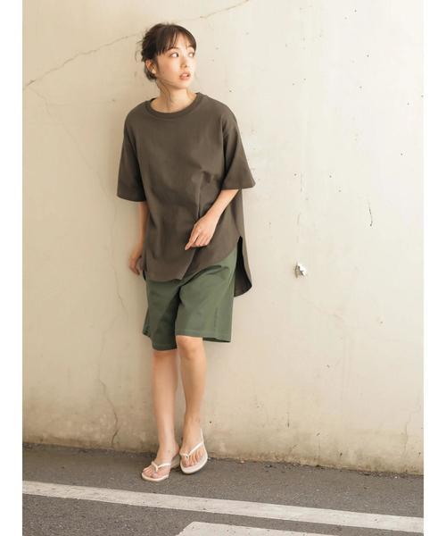 [CRAFT STANDARD BOUTIQUE] 【追加生産】厚手裾ラウンドカットBIGTシャツ○☆