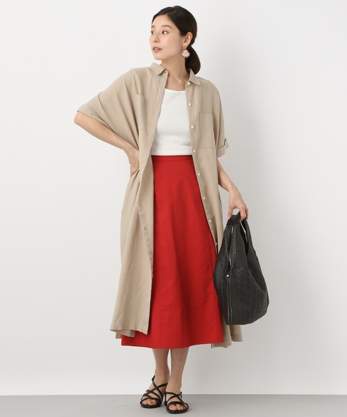 [LEPSIM] メンアサセミフレアロングスカート 839140