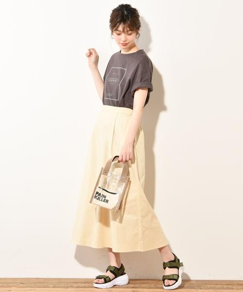 [natural couture] タックフレアスカート