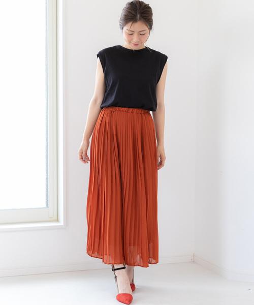 [Fizz] シフォンプリーツロングスカート
