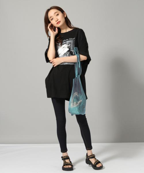 [JEANASIS] フォトPT BIG TEE/ビッグシルエットTシャツ/8417552