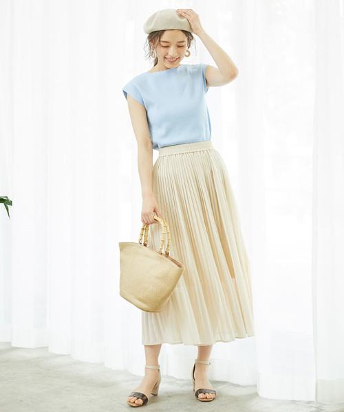 [ROPE' PICNIC] プリーツロングスカート