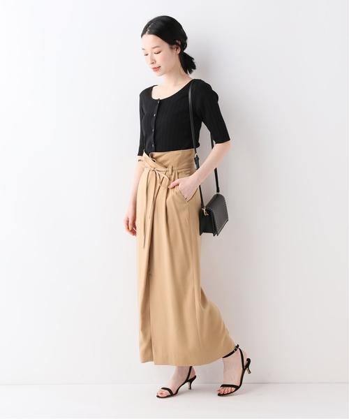 [IENA] SLOBE IENA Fi.m 巻き風タイトロングスカート