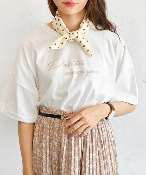 [PairPair] ドットスカーフ付ラテカラーTシャツ
