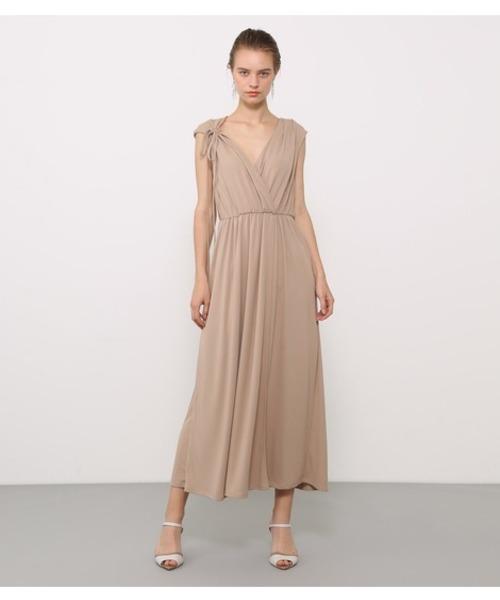[SHEL'TTER] カシュクールジャージードレス