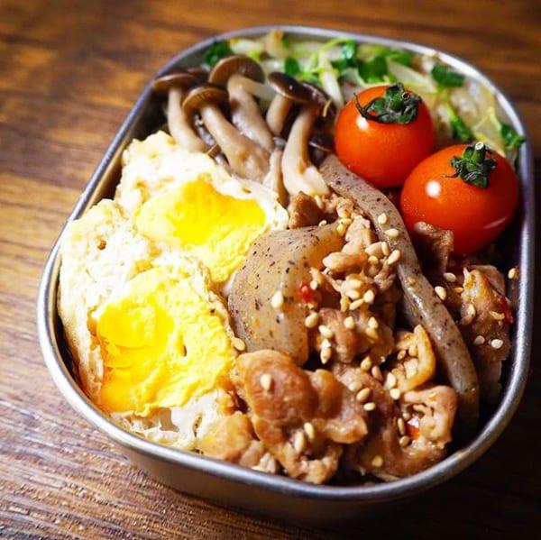 ご飯がわりの野菜炒め弁当