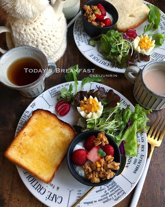 朝食に!いちごのヨーグルトグラノーラ