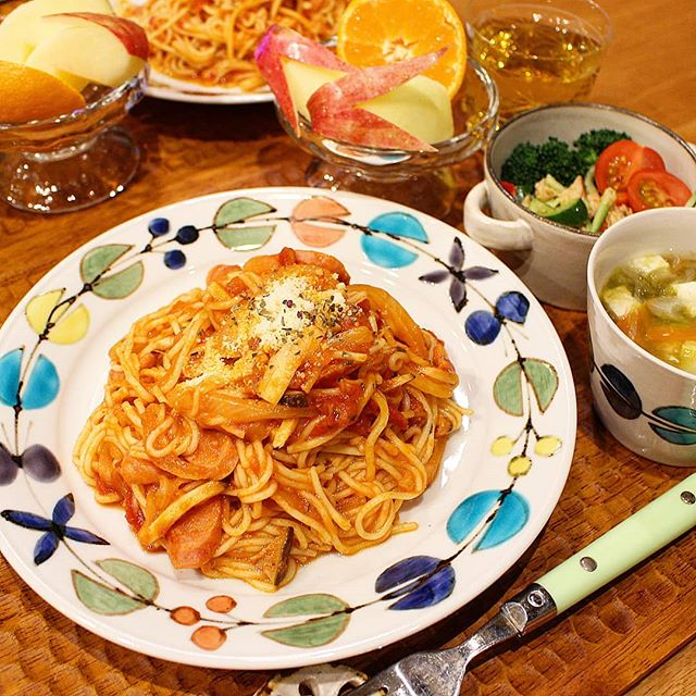 こんにゃく麺のトマトスパゲッティ
