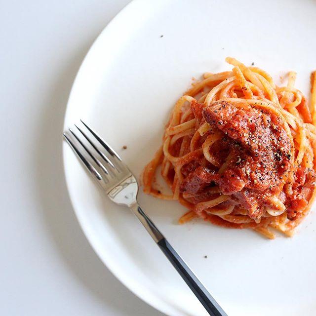 トマトクリームパスタの人気レシピ4