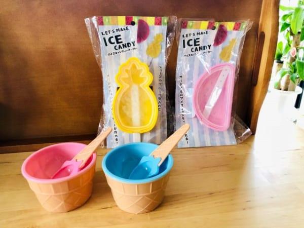 アイスクリームモチーフのカップ