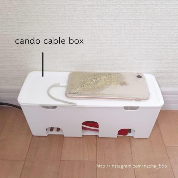 ケーブルを収納できるケース【キャンドゥ】