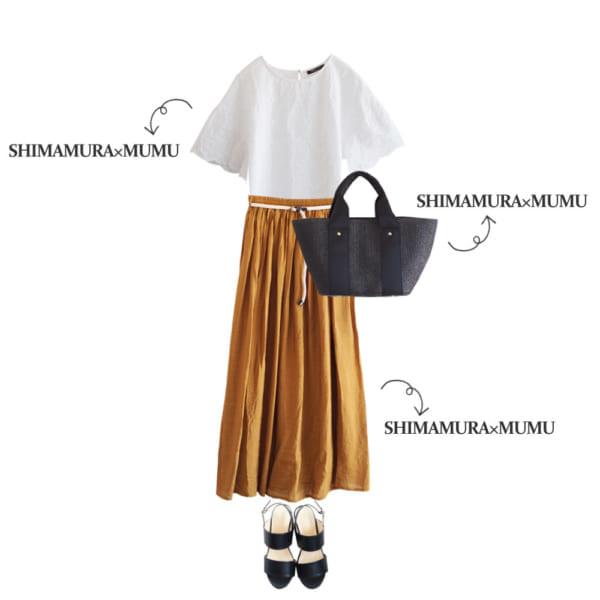 刺繍プルオーバーとマキシスカートで初夏のレディスタイル