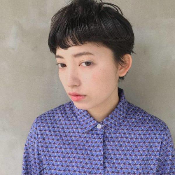ハンサムショート×黒髪3
