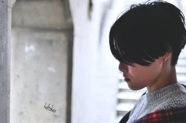 ハンサムショート×黒髪7